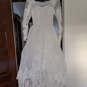 Dresses & Skirts - Vintage 1950s Wedding Gown with Crinoline and Hoop